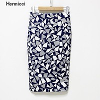Hermicci Plus Size Women Pencil Skirts 2017 New Fashion Slim Office Flormal Skirt Ladies Bodycon Skirts Elegant Open Slit Skirts