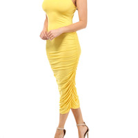 Simply Sexy Tank Dress -Yellow