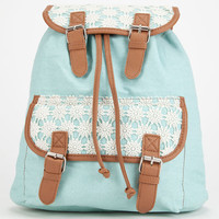 Sky Crochet Backpack Mint One Size For Women 26046452301