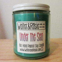 Under the Sea - 8oz. Soy candle - Disney Inspired - vegan