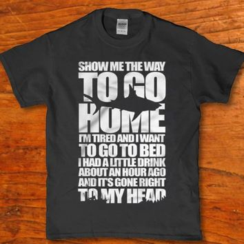 Show me the wa;y to go home Shark jaws adult horror Men's t-shirt