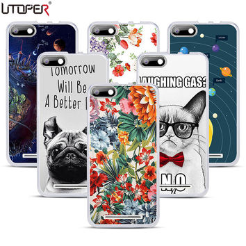 "Personalized DIY Flower Printed Silicon Cover For BQ Strike BQS 5020 BQS-5020 5.0"" Name Case Soft Plastic Transparent Phone Case"