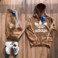 Adidas Casual Hoodie Top Sweater Pants Trousers Set Adidas Two-piece Sportswear3