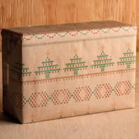 Christmas Knit Pattern Wrapping Paper