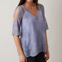 BKE Boutique Cold Shoulder Top