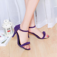 Bow Ankle Strap High Heels Sandals Spike Heel 5442