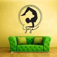Wall Decal Vinyl Sticker Decals Yoga Pose Men Symbol Indian Training (z2252)