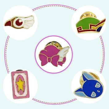 Japanese star stick drip oil metal collar pin cartoon enamel brooch alloy brooch badge
