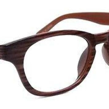 RETRO CLASSIC READING GLASSES WOOD PRINT FRAME MEN WOMEN READERS 979