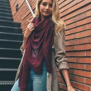 Open Weave Blanket Scarf (Multiple Colors)