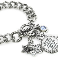 Inspirational Quote Charm Bracelet
