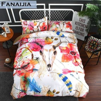 Fanaijia dream catcher Bedding Set King size Bohemian kids Duvet Cover set with pillowcase 3pcs AU Queen Bed best gift bedline