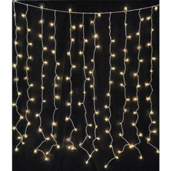 Walmart: Queens of Christmas WL-CUR150CL-IN-WTW Incandescent Twinkle Light Curtain