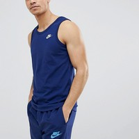 Nike Futura Logo Vest In Navy 827282-430 at asos.com
