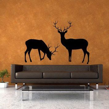 Deer Set of 2 Vinyl Wall Art Decal by VinylWallAccents on Etsy