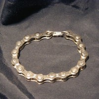 Bicycle Chain Bracelet also comes in blue, yellow, green, white, gold or purple