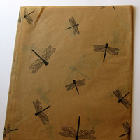 "10 Sheets of Dragonfly on Kraft Tissue Paper (20"" x 30"")"