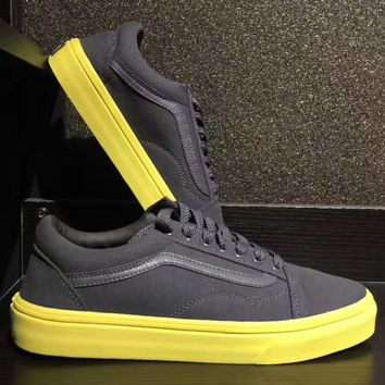 Vans Authentic Lite M Grey yellow bottom casual shoes
