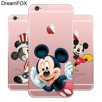 DREAMFOX M441 Cute Mickey Mouse Soft TPU Silicone Case Cover For Apple iPhone XR XS Max 8 X 7 6 6S Plus 5 5S SE 5C 4 4S