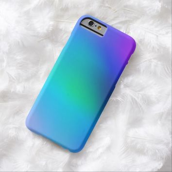 Aqua Blue Mint and Purple Abstract Art iphone 6 Case. Case-Mate Barely There case; Cute modern colorful iphone 6 cases