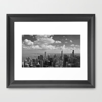 chicago... Framed Art Print by Chernobylbob
