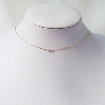 delicate choker necklace, dainty choker necklace, thin choker necklace, chain choker necklace, choker collar necklace, gold choker necklace,