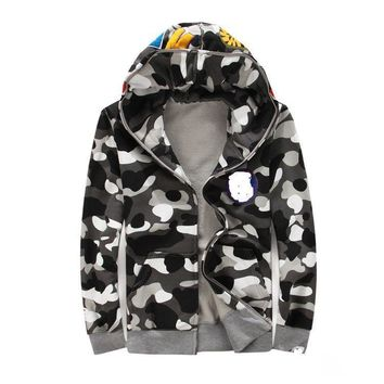 Casual Camouflage Noctilucent Hoodies Couple Jacket [429895385124]