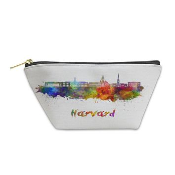 Accessory Pouch, Harvard Skyline In Watercolor