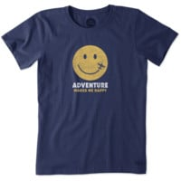 Women's Adventure Makes Me Happy Crusher Tee