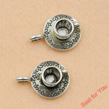 5pc Mixed Tibetan Silver Plated Coffee Cup Teapot Charms Pendants Jewelry Making Diy Charm Handmade Crafts c056