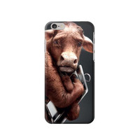 P1271 Crazy Cow Phone Case For IPHONE 6S PLUS