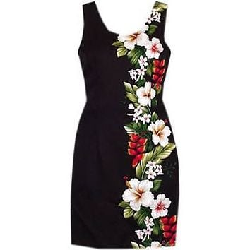 paradise black short tank dress
