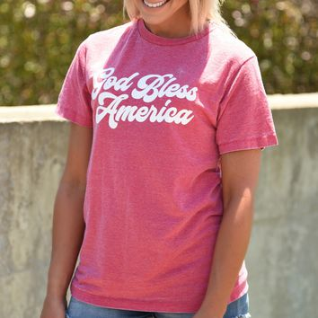 God Bless America Tee - Red