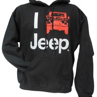 "All Things Jeep - ""I Jeep"" Hooded Sweatshirt, Black"