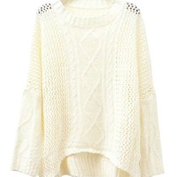 Textured Pullovers with Cable Knit