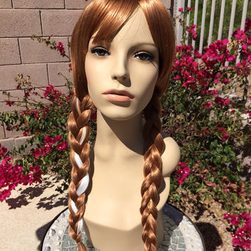 Princess Anna Frozen Inspired Disney Cosplay Braids Wig