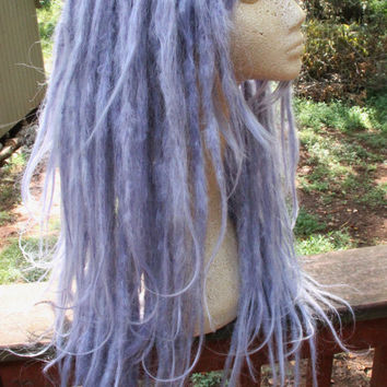 Celestial Blue Pastel Lavender Dreadlock Wig * Synthetic Dreads * Nu Goth * Pastel Goth * Fairy Kei * Kawaii * Dreadlock Extensions * SE DE