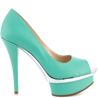 Enzo Angiolini - Loveutoo - Lt Green Gold Syn