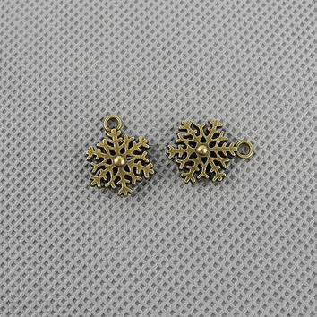 15x Keyrings Clasp Jewellery Supply Pendant Schmuckteile Jewelry Findings Charms 4-A3509 Snowflake