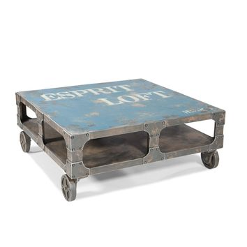 Loft Industrial Coffee Table Blue