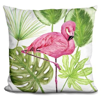 Tropical Flamingo Ii Pillow