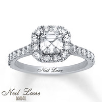 Neil Lane Engagement Ring 1 5/8 ct tw Diamonds 14K White Gold