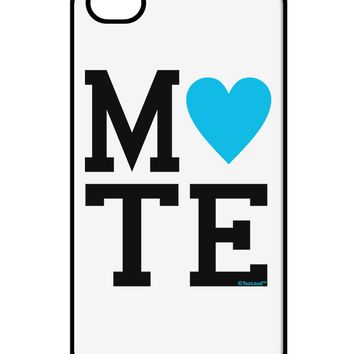 Matching Soulmate Design - Mate - Blue iPhone 4 / 4S Case  by TooLoud