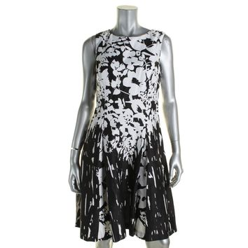 Lauren Ralph Lauren Womens Jemmalyn Printed Box Pleat Party Dress