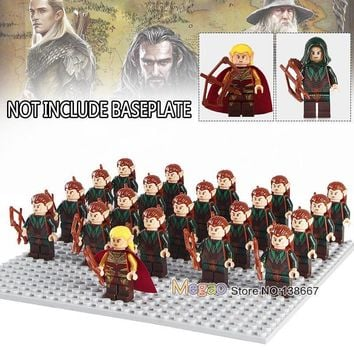 Building Blocks 21pcs/lot legoing Mirkwood Elf Lord of the Rings The Battle of Helm's Deep Troops Children Gifts Toys