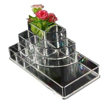 Acrylic Cosmetic Organizer Lipstick Holder Display Stand Clear Makeup  organizer Storage Container