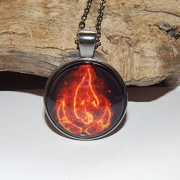 Avatar pendant, Avatar necklace, Avatar keychain, Avatar the Last Airbender, Fire tribe nation emblem, Avatar fire elements, Avatar patch