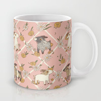 goat pattern 2 Mug by Gwendolyn Wood