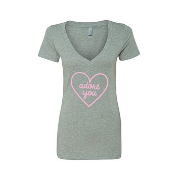 "Harry Styles ""Adore You Heart"" V-Neck T-Shirt"
