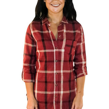 Chic Lumberjack Flannel in Red | MACA Boutique